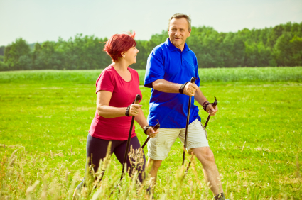 Pole Walking Benefits Boomers For Fitness